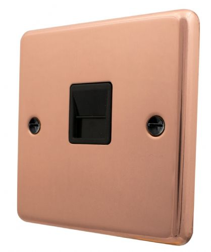 G&H CBC34B Standard Plate Bright Copper 1 Gang Slave BT Telephone Socket